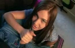 Handjob Of Miss Ilary. Cutie Ilary..
